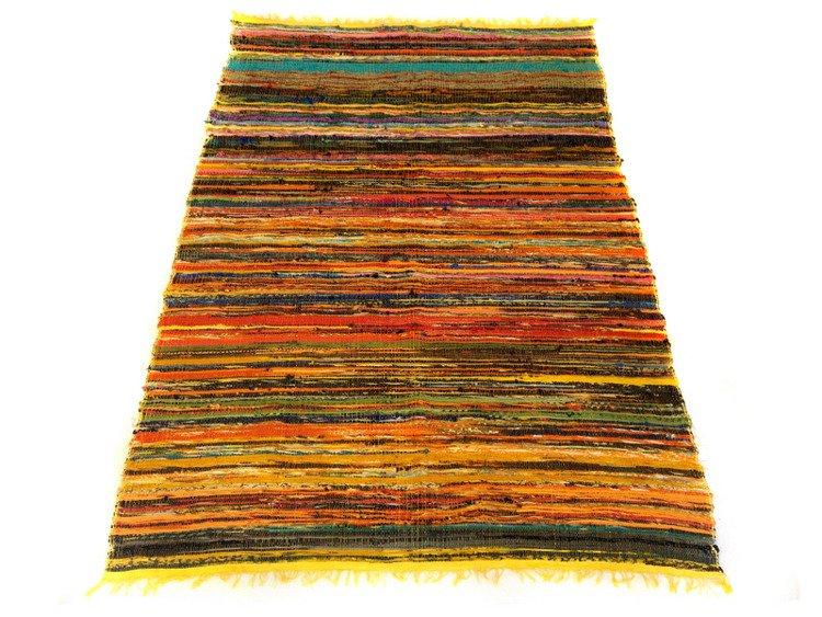 Dywan Mata Na Plażę żółte Kolory 105 X 180 Cm Indie