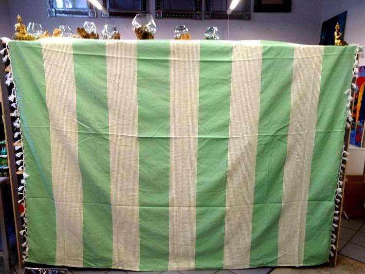 Narzuta Na łóżko Orientalna Zielono Biała Kapa Z Indii 260x220cm